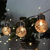 TAOtTAO Solar Pineapple Light String Light Bulb Round Ball Light Outdoor Garden Light