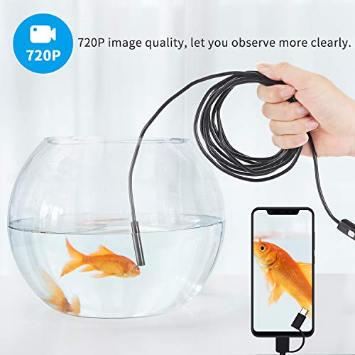 USB Inspection Camera Endoscope Type C Borescope 2.0 MP HD/Camera with 8 LEDs for Android Smartphone and Windows by Stylustar 11.5FT
