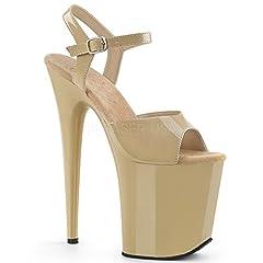 """8"""" Heel, 4"""" Platform Ankle Strap Sandal"""