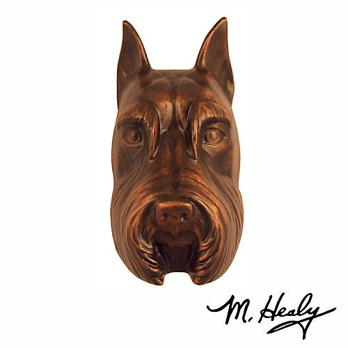 Pug Dog Knocker - Bronze