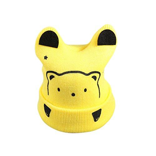Baby Cartoon Bear Beanie Hat Infant Breathable Cute Cap for Winter (Jew Bear Costume)