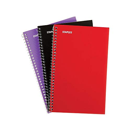 - Staples 1 Subject Notebook, 7-3/4