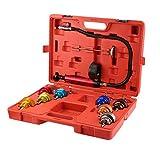 14PCS Universal Automotive Radiator Pressure Tester Kit, Pump Gauge Leak Detector Tool Car