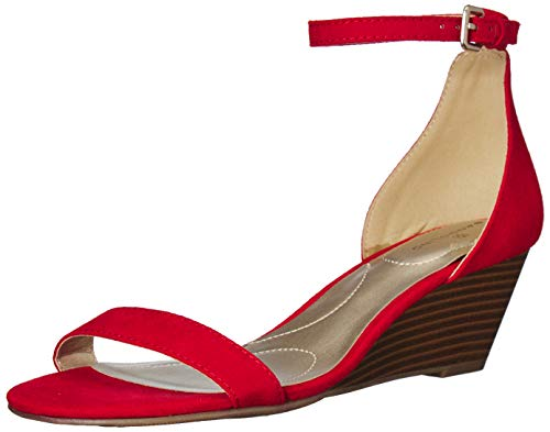 Bandolino Women's OMIRA Wedge Sandal, Red, 6.5 Medium US