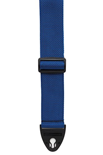 D'Andrea 1355 BLUE Polyweb Guitar Strap with Ace Lock