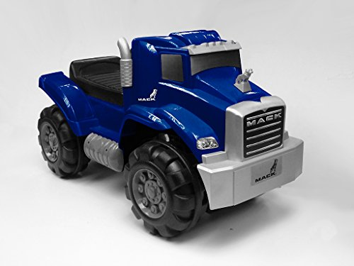 Beyond Infinity Ride On Mack Truck Foot to Floor in Kids Ride On, Blue, 26.38 x 12.6 x 15.11