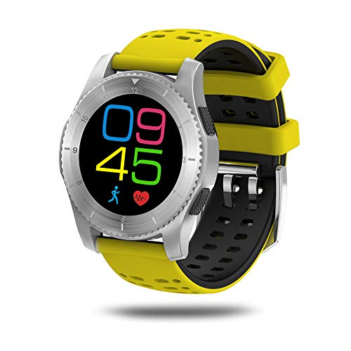 KSUN Waterproof Heart Rate Monitor Pedometer Bluetooth Smart Watch for Android iOS KS-GS8SY -