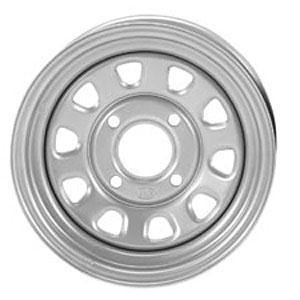 ITP Delta Steel Wheel - 12x7 - 4+3 Offset - 4/110 - Silver , Bolt Pattern: 4/110, Rim Offset: 4+3, Wheel Rim Size: 12x7, Color: Silver, Position: Front/Rear 1221753032 ()