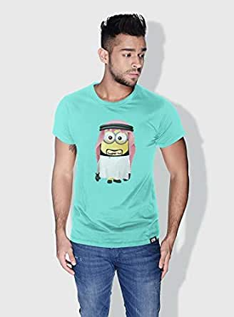 Creo Uae Minions Round Neck T-Shirt For Men - Green, S