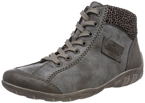 Fumo Grau Sneaker L6540 Asphalt 45 Hohe Rieker Grau Damen wB4UqU