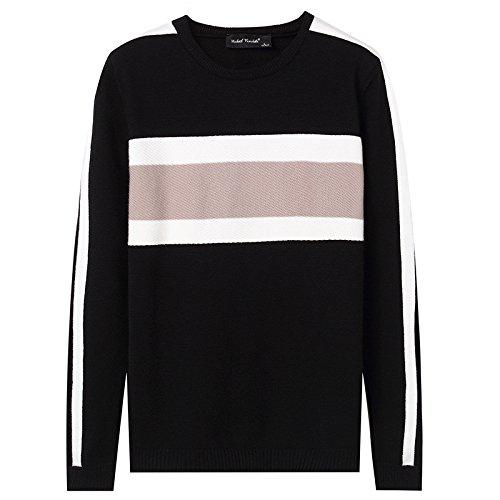 Jdfosvm männer - Pullover im Herbst - Winter warm Collar Pullover,schwarz,XL