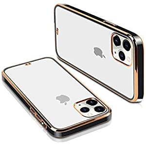 CASEBREED Back Cover Case Compatible for iPhone 12 Pro Max (Flexible|TPU|Elegant Black)