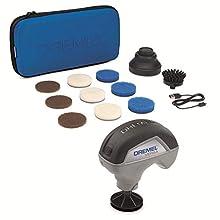 Dremel Versa Limpiador de Alta Velocidad - Kit de Limpieza con 9 Almohadillas Multifunción, 1 Cepillo de Cerdas y 1 Protector Antisalpicaduras para Limpieza y Fregado más Rápidos y Fáciles