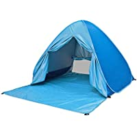 Pop Up Beach Tent Lightweight Windproof Easy Setup Portable 2-3 Person Family Outdoor Sun Shelter with Zipper Curtain…
