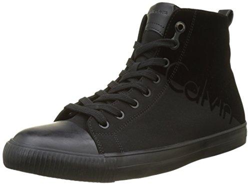 para Nylon Negro Flocking Klein Black Black Zapatillas Calvin Hombre AJAX qFnOxxf