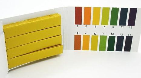 Medidor Test de pH 1 a 14 para Picsina y Acuario Peachimetro 80 Tiras Papel 2374: Amazon.es: Productos para mascotas