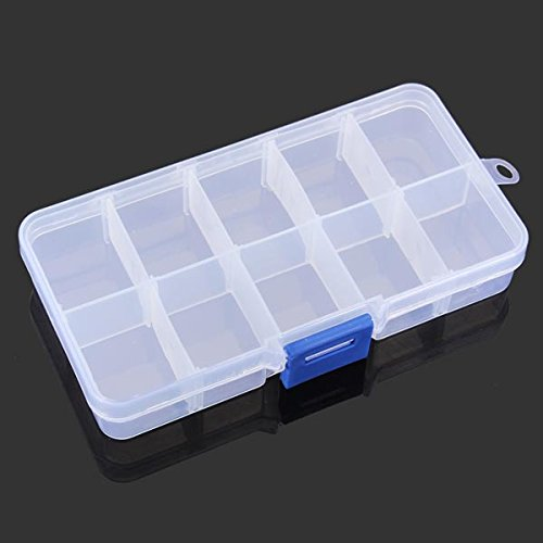 10 Grid Multifunctional Storage Box Adjustable Tool Box Parts Box (Dry Dock Hitch)