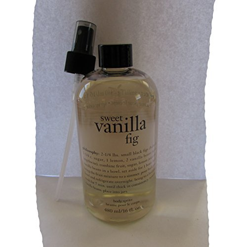 Philosophy Sweet Vanilla Fig Body Spritz 16oz with spray pum