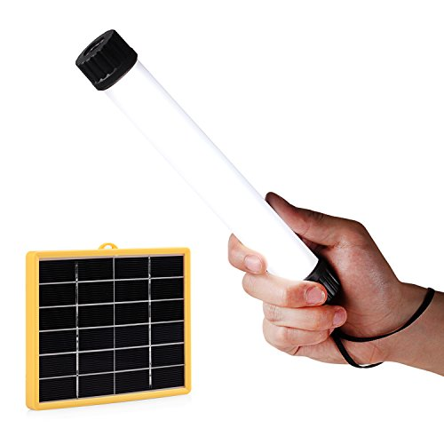 Univivi Solar LED Flashlight, Portable Multi Functional Adjustable Brightness Led Hanging Lamp/Lantern, And Power Charger for 5V USB Charged Device