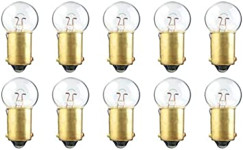 CEC Industries #51 Bulbs 1.65 W Box of 10 BA9s Base G-3.5 shape 7.5 V