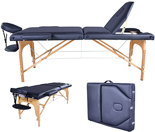 BestMassage PU Portable Massage Table w/Carry Case by BestMassage