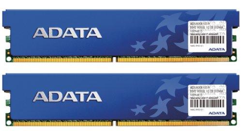 ADATA DDR2 800Mhz 2GB Kit 2 x 1GB CL5 Desktop Memory with Heat Spreader AD2U800B1G5-DRH