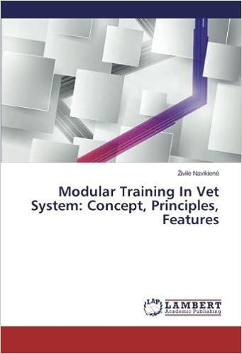 Modular Training In Vet System Concept Principles Features Navikienė Zivilė 9783659580222 Amazon Com Books