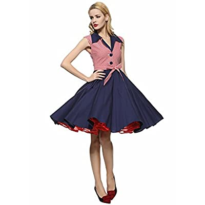 225711978dd8 Maggie Tang 1950s Vintage Pinup Cocktail Swing Rockabilly Dancing Party  Dress