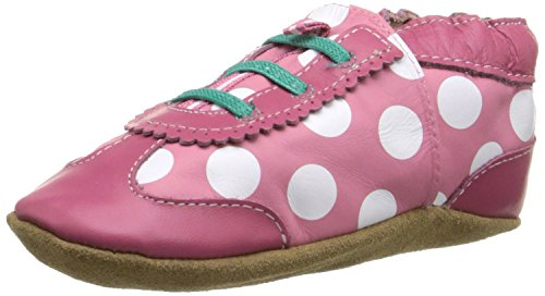 Robeez Dotted Dolly Crib Shoe (Infant), Hot Pink, 0-6 Months M US Infant