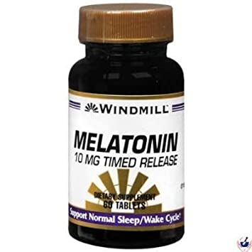 Image Unavailable. Image not available for. Color: Windmill Melatonin Time Release ...