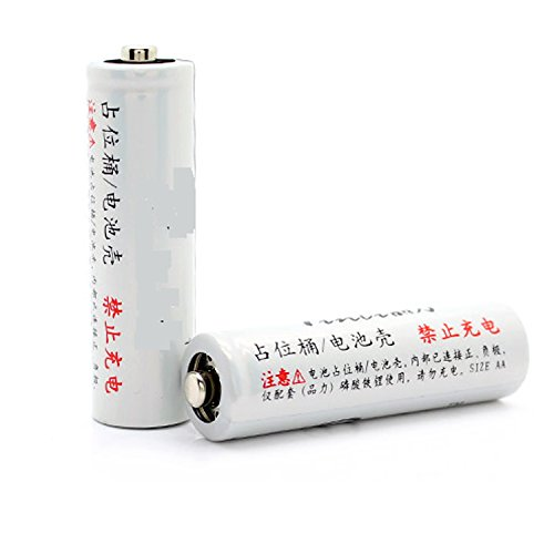 AuKvi AA Battery Placeholder Cylinder , 2-Pack - (Premium...