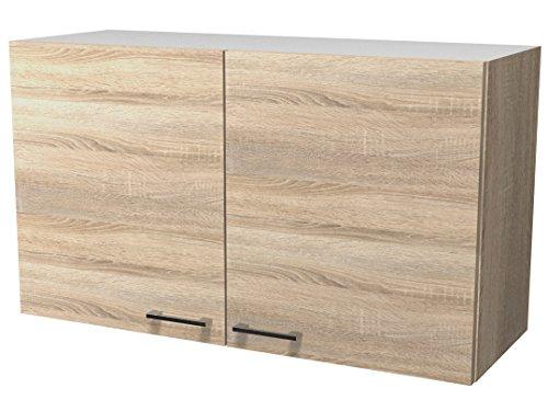 Flex well 00007542 oberschrank samoa sonoma eiche 100 x 548 x 32 cm amazon de küche haushalt