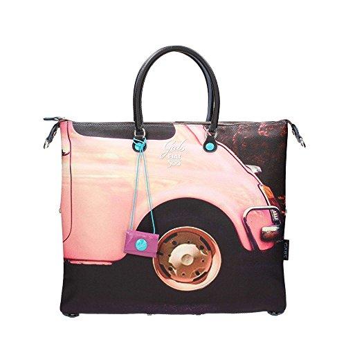 Fiat 500 borsa shopping grande piatta a mano