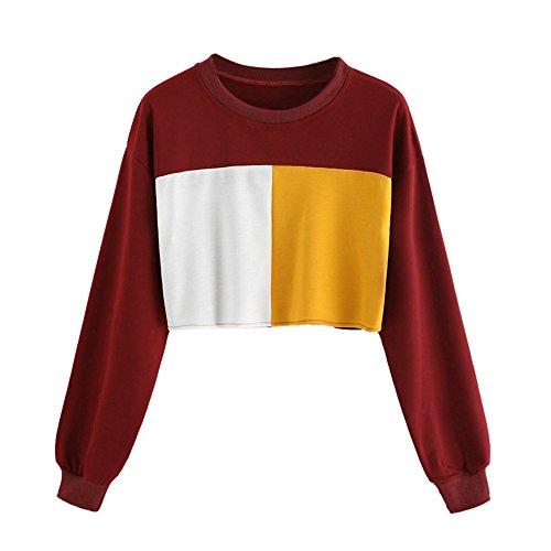 - HYIRI Sweatshirt Patchwork Causal,Fashion Womens Long Sleeve Tops Blouse