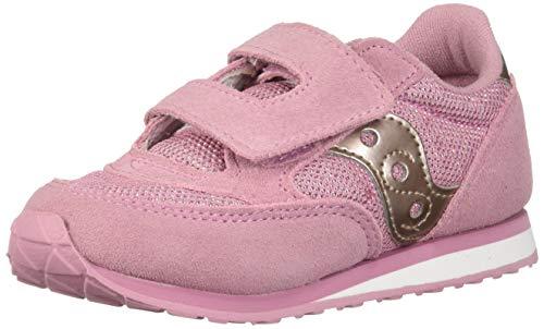 Saucony Girls' Baby Jazz HL Sneaker, Metallic/Pink, 7.5 Medium US Toddler