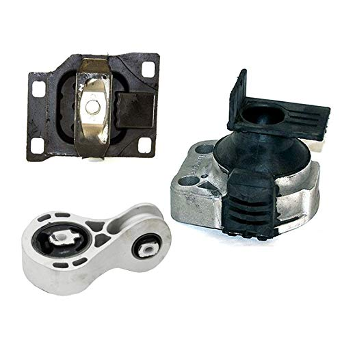 K2104 Fits 2008-2011 Ford Focus 2.0L Engine Motor & Trans Mount Set 3pcs AT & MT : A5312, A5322, A2986