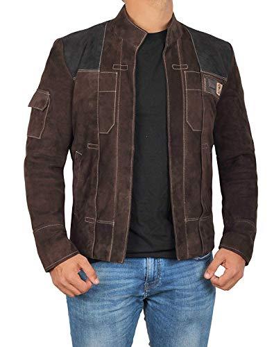 Leather Jacket Men - Brown Leather Jackets for Men | Dark, M ()