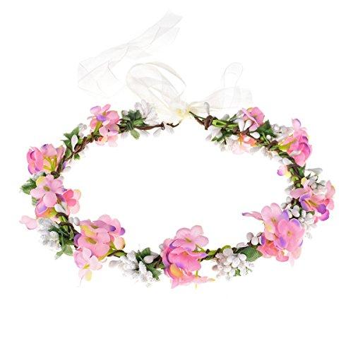 lower Crown Fruit Headband Boho Garland Wedding Photo Prop (Pink) ()