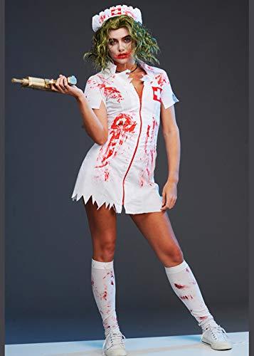 Magic Box Disfraz de Enfermera Estilo Sangriento para Mujer ...