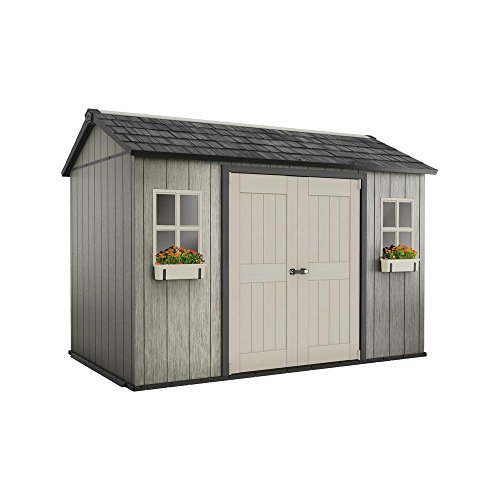 Keter My Shed 11 ft. x 7.5 ft. Fully Customizable Storage Shed (7.5' Outdoor Storage Shed)