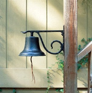 ecorative Country Bell, Large, Black (Country Dinner Bell)