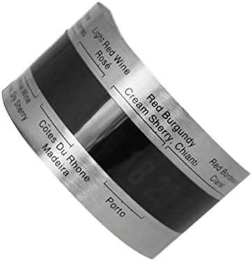 YXDS Termómetro Digital de Vino Tinto eléctrico con Pantalla LCD de Acero Inoxidable, medidor de Temperatura con Sensor de 4-24 Grados centígrados, termómetro Digital