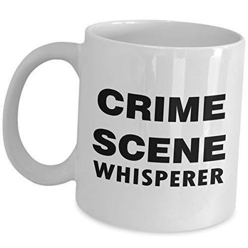 Appreciation Gift Idea For Criminal Investigator - Crime Scene Whisperer - Funny Cute Gag Gifts Bachelor's Degree in Criminal Justice Investigation Coffee Mug Ceramic Tea Cup (Best Jobs With Criminal Justice Degree)