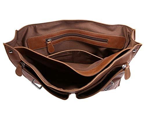 pelle laptop viaggio Borsa Olprkgdg in unisex borsa nero Borsa colore scuro vintage da da Marrone T8IYxY