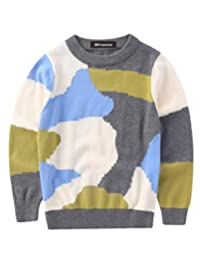MFrannie Boys Colorful Camouflage Soft Cotton Vigorous Cute Sweater