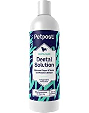 Petpost | Dental Solution for Dogs - Water Additive That Kills Bad Breath - Plaque and Tooth Decay - Natural Tooth Cleaning Solution (16 oz.)