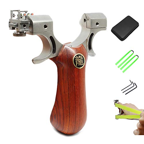 (MoreFarther Slingshot Kit with Sight, Wrist Rocket Slingshot, Y Sling ShotSlingshot Kit (MF190102US))