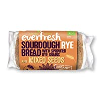 Everfresh Organic Rye Bread with Mixed Seed 400 g (Pack of 8)