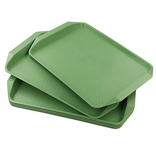 Begale Plastic Fast Food Serving Trays, Pack of 4