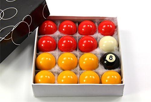 Funky Chalk Medium Size Economy Red & Yellow Pool Ball Set – 1 3 ...
